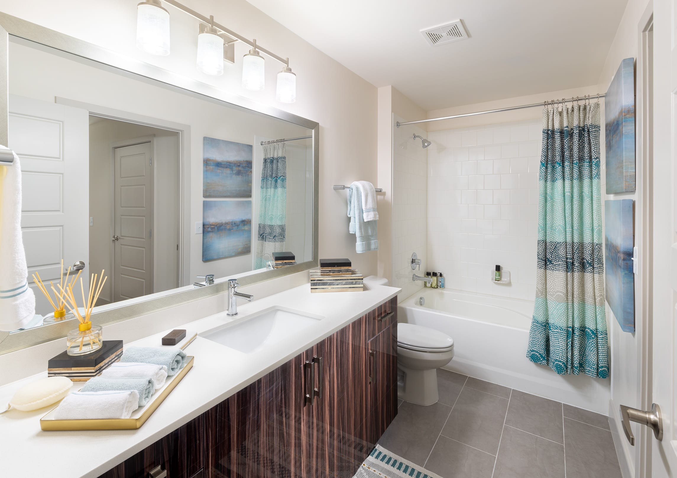 luxury apartment bathrooms in silver spring thayer & spring