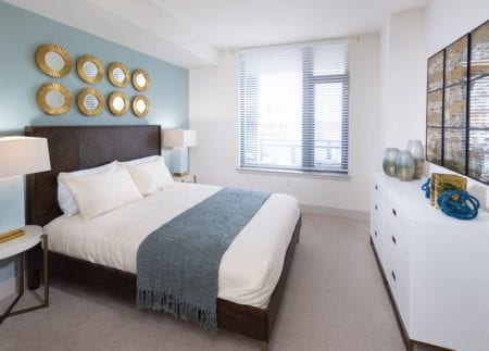 light filled spacious bedroom at thayer and spring in silver spring