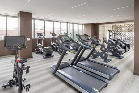 apartment amenities gym thayer and spring in silver springs