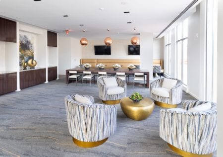 community work lounge at thayer & spring silve spring apartments