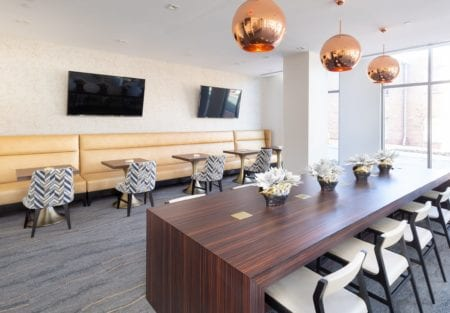office space and lounge amenities at thayer and spring silver spring