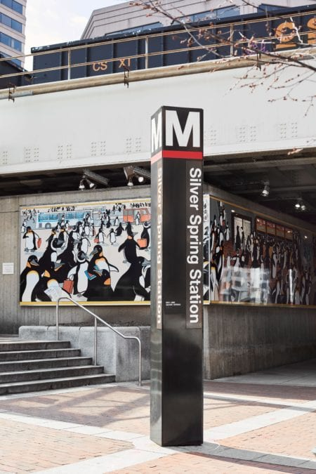 silver spring metro station near luxury apartment thayer and spring