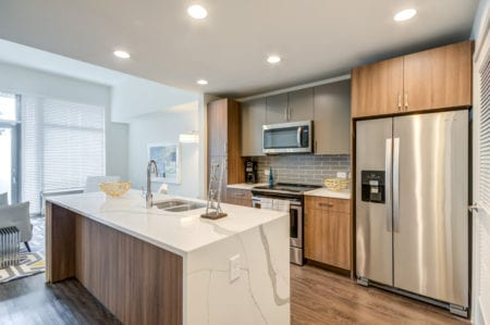 luxury kitchen apartments in silver spring thayer and spring