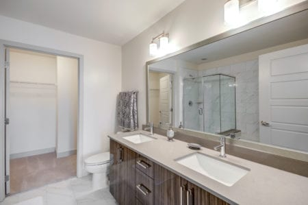 thayer and spring double vanity luxury apartment finishes silver spring