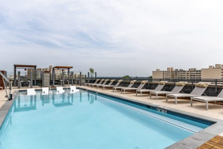 thayer and spring outdoor pool amenities in silver spring