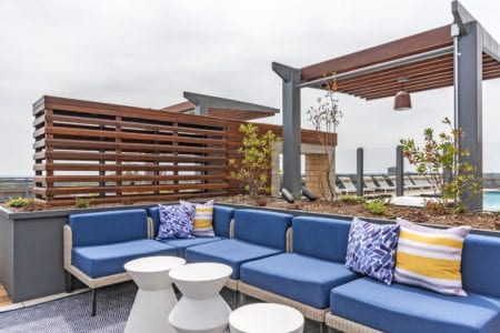 thayer and spring roofop lounge amenities luxury silver spring apartments