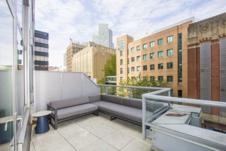 fort greene apartment outdoor amenity seating area 80 dklb