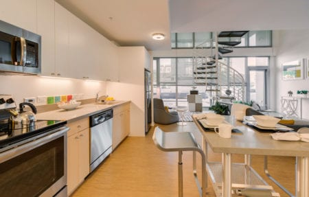 mosso luxury open kitchen loft in soma san francisco