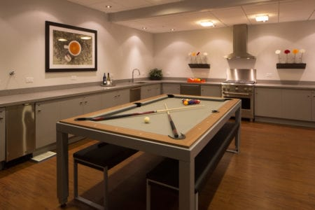 mosso rental billiards and community kitchen area in san francisco apartment