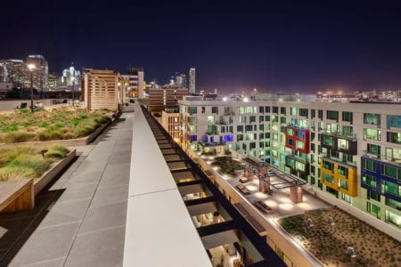 mosso apartment rooftop view of courtyard soma san francisco