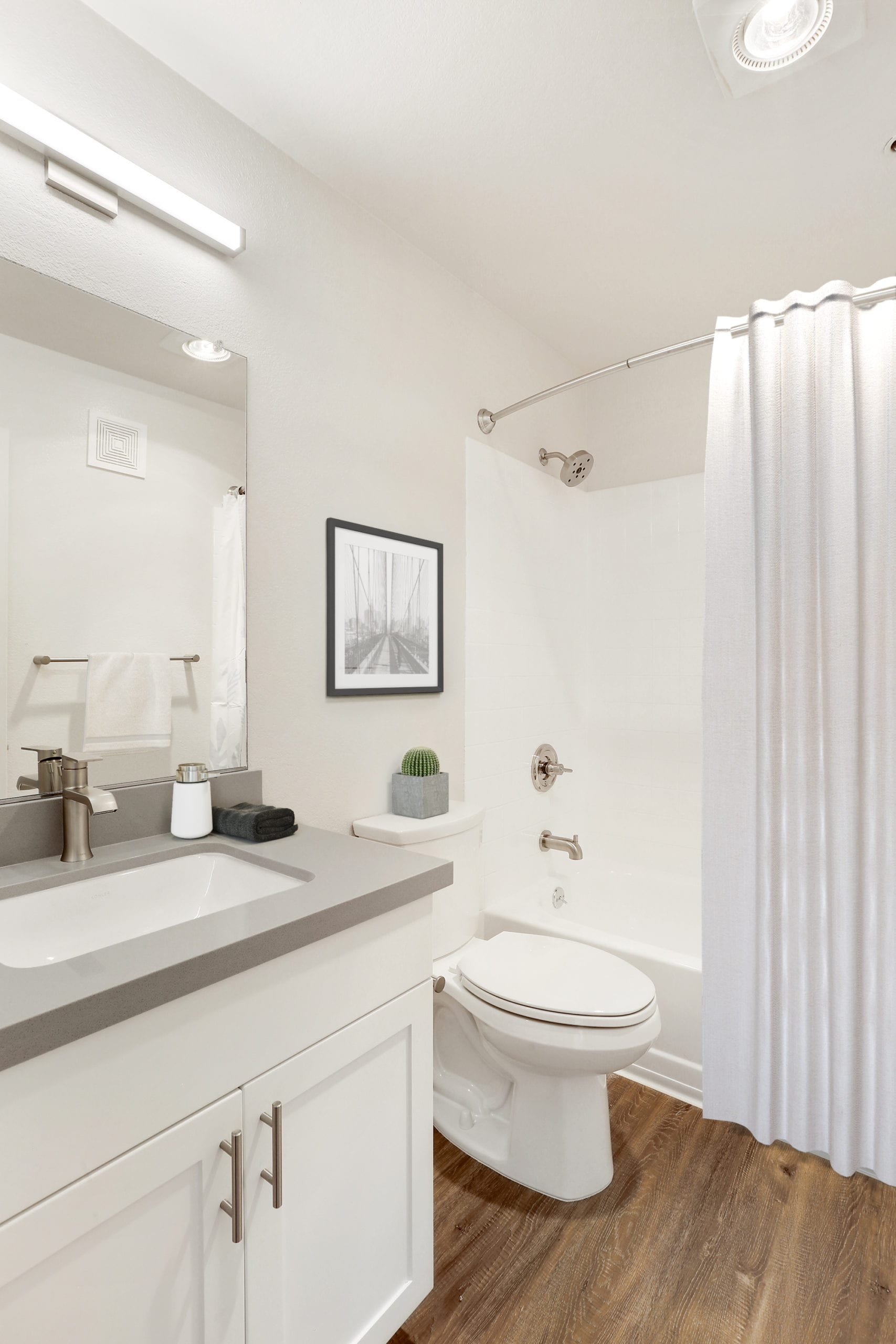 modern luxury san francisco bathroom with white finishes