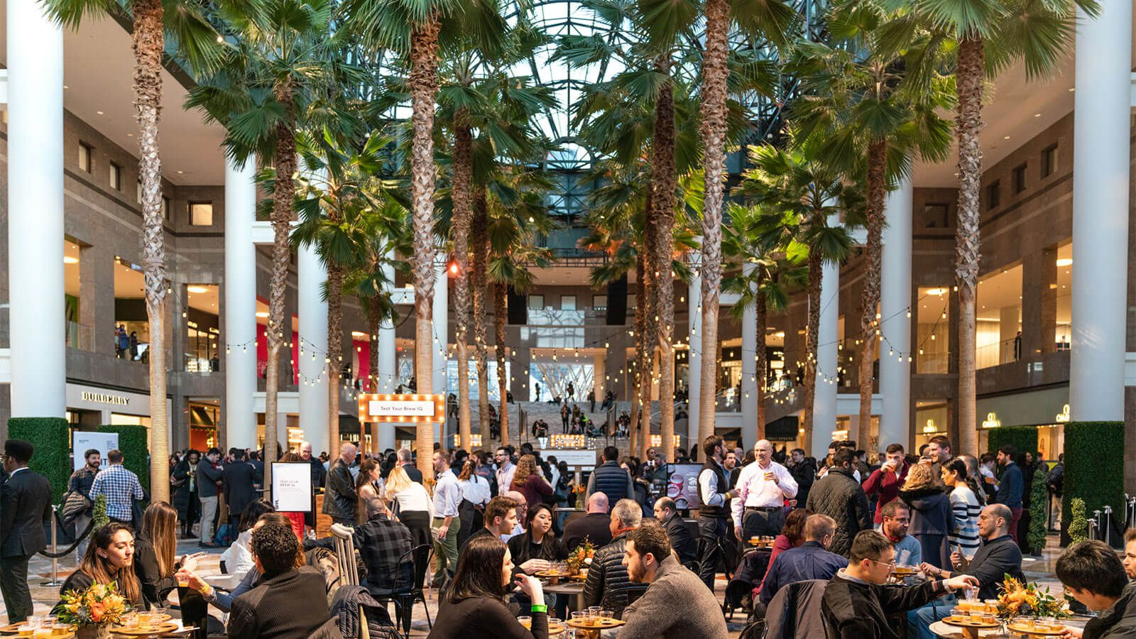 the Winter Garden full of visitors during the BFPL Best Brews Festival